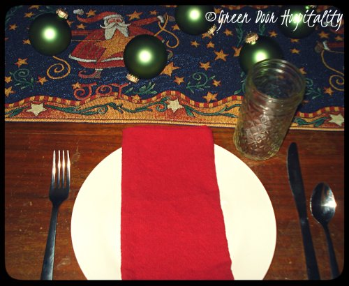 Holiday Lunch Place Setting